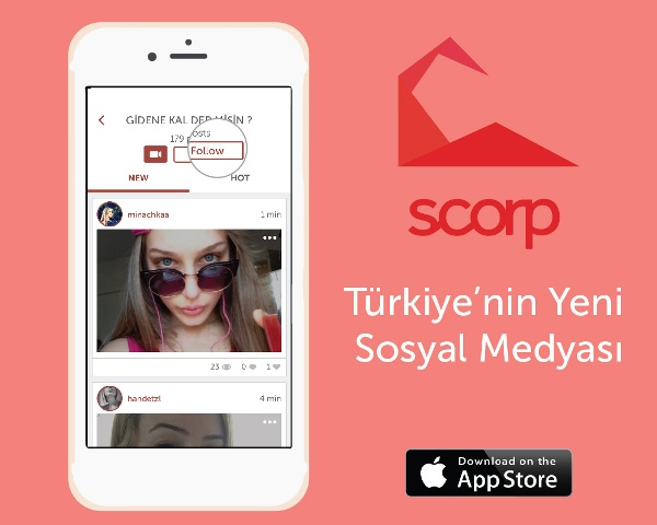 sosyal medya platformu olan Scorp